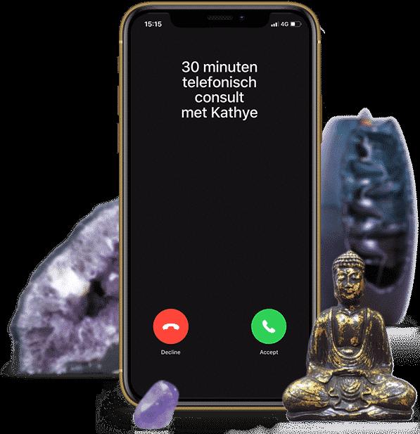30 minuten telefonisch consult met helderziende Kathye Kaan
